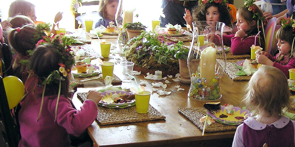Fairy birthday party tablescape and catering