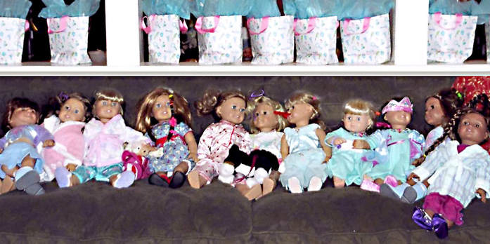 Spa Birthday Party Favors and American Girl dolls