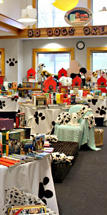 Bark for Books Book Fair decoration and setting