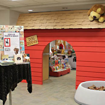 Bark for Books interior design and display