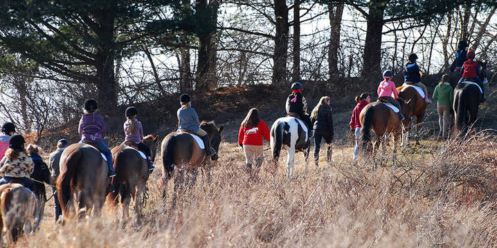 Equestrian Birthday Party trail ride activity