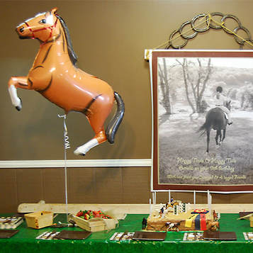 Equestrian birthday party decor