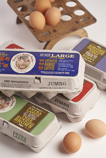 Feather Ridge Farm Egg Carton Label Design