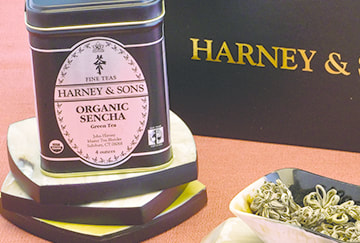 Harney & Sons Organic Sencha Label Design