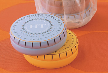 Harney & Sons HT Round Tin Package Design