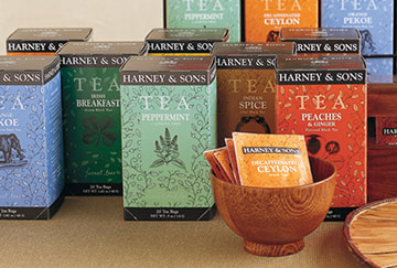 Harney & Sons Fine Tea Carton Design