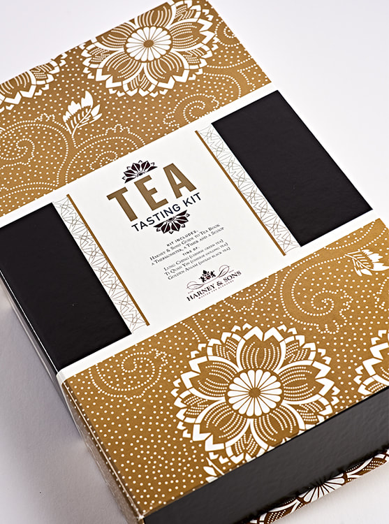 Harney & Sons Teas Tasting Kit package design