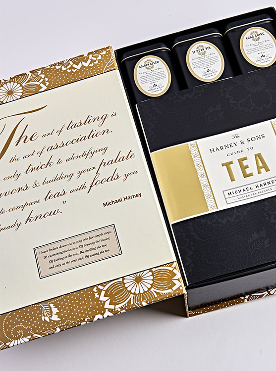 Harney & Sons Tea Tasting Kit package design