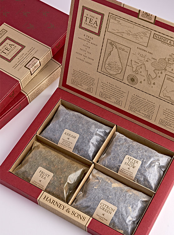Harney & Sons Tea Travel Package Design