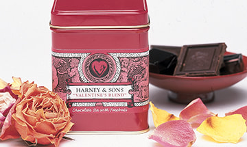 Harney & Sons Valentine's Blend Package Design