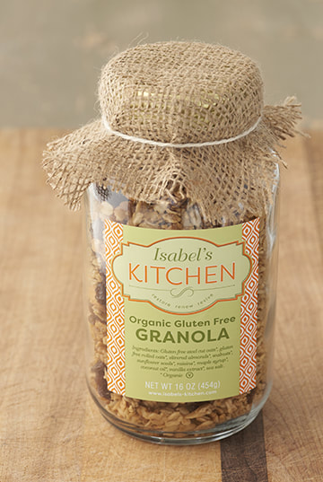 Isabel's Kitchen Granola package design