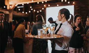 Barn wedding cocktails