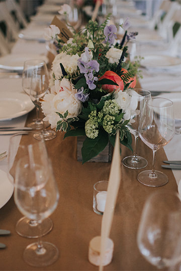 Barn wedding table setting