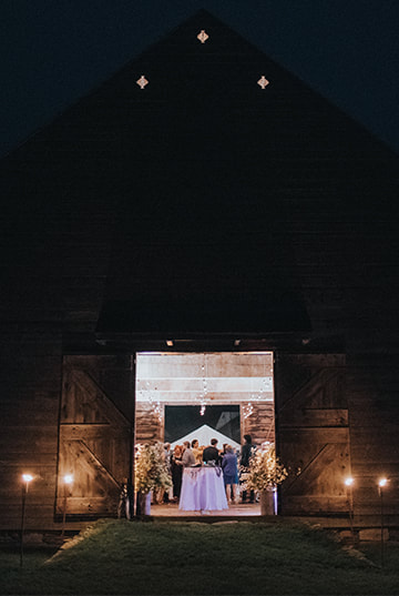 Wedding barn lighting