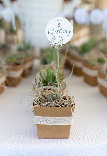 Wedding table seating sign