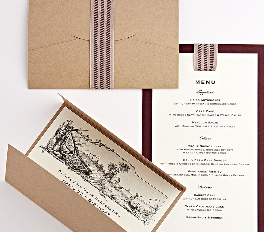 Luncheon Invitation and Menu Design