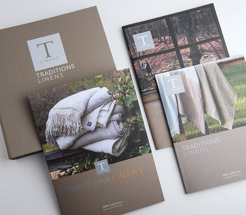 Traditions Linens Catalog Design
