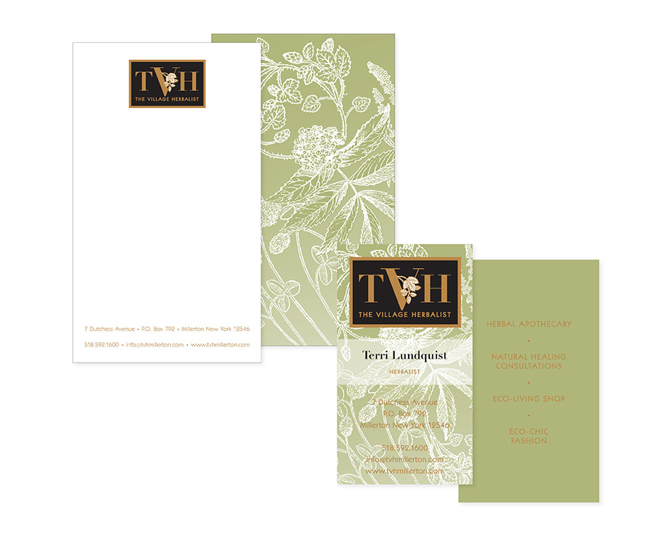 The Village Herbalist Stationary & Logo Design